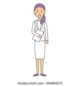 beautiful businesswoman avatar character