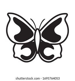 beautiful butterfly insect line style icon vector illustration design