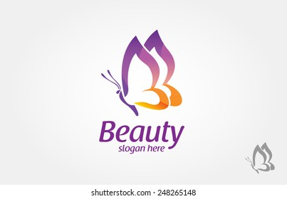 Beautiful Butterfly logo, this logo symbolize, some thing beautiful, soft, calm, nature, metamorphosis, graceful, and elegant.