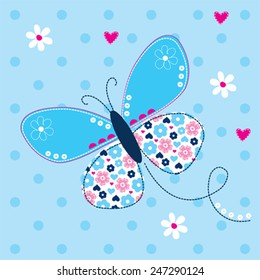 beautiful butterfly vector illustration