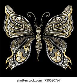 Beautiful  butterfly. Vector illustration.