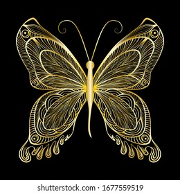 Beautiful  butterfly. Vector illustration. EPS 10