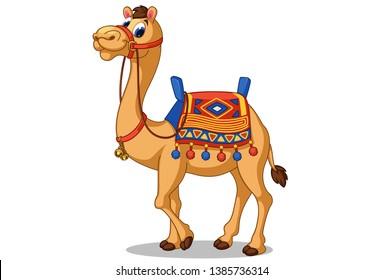 Beautiful camel cartoon vector illustration