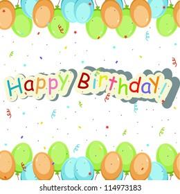 Beautiful card with birthday