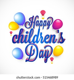 A beautiful card of children's day.