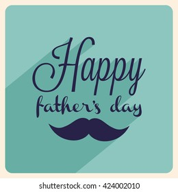 A beautiful card of happy fathers day with stylish typography.