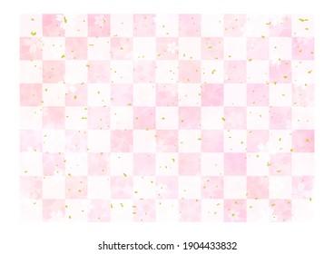 Beautiful cherry blossom background, frame