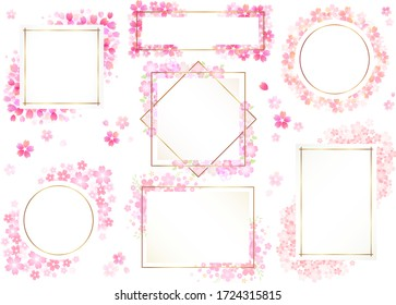 Beautiful cherry blossom frame set