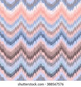 Beautiful chevron zig zag ornament. Vector ikat seamless pattern. Pastel chevron background.