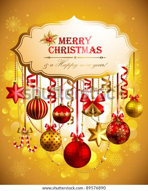 Beautiful Christmas Background Images.Beautiful Christmas Background Place Text Vector Stock