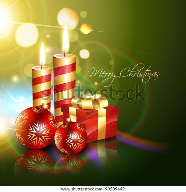 Beautiful Christmas Background Design.Beautiful Christmas Background Vector Design Stock Vector