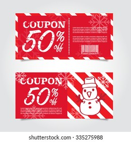 Beautiful Christmas Sale Tags and Coupons