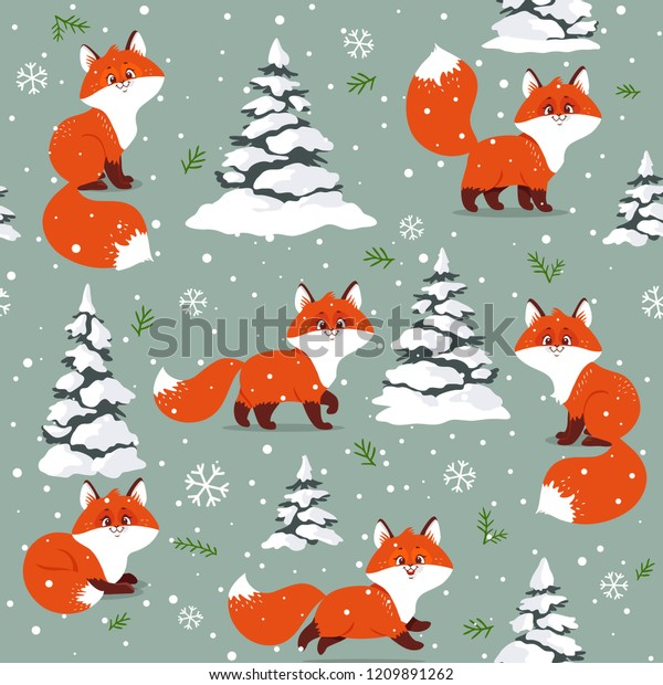 Beautiful Christmas Seamless Pattern Gorgeous Cartoon