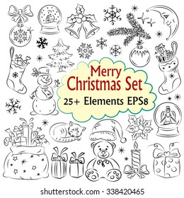 Beautiful Christmas Vector Sketch Collection