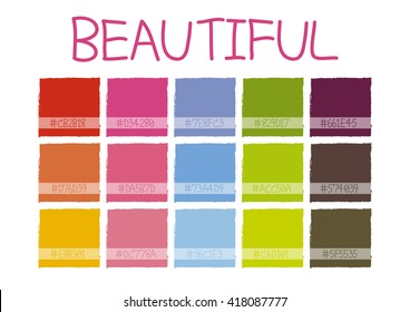 Beautiful Color Tone with Code Vector Illustration