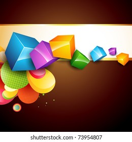 beautiful colorful boxes background. Eps10 vector