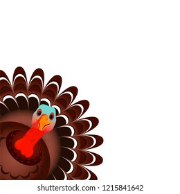 Beautiful, colorful cartoon of turkey bird for Happy Thanksgiving celebration, can be use as flyer, poster or banner