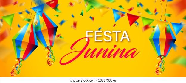beautiful colorful festa junina background