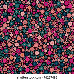 Beautiful colorful floral background, vector