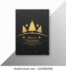 Beautiful colorful marry christmas party flyer template design vector illustration
