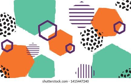 Beautiful colorful octagon fun pattern