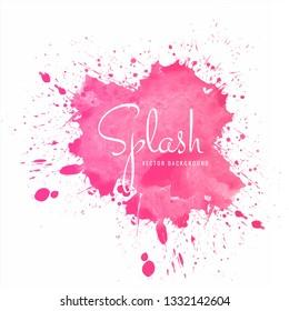 Beautiful colorful soft watercolor splash vector