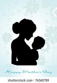 beautiful concept greeting card for mom day celebration