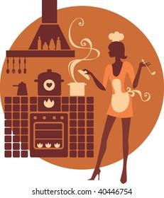 Beautiful cook silhouette