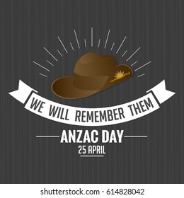 beautiful and creative abstract, banner or poster for Anzac Day with nice and beautiful poppy flower design illustration in a grey background, 25th of April Anzac Day.