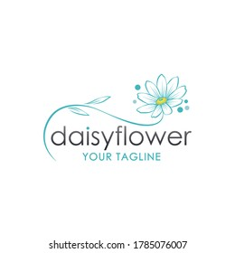 beautiful daisy flower logo icon illustration