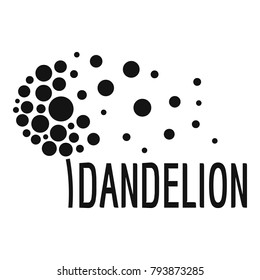 Beautiful dandelion logo icon. Simple illustration of beautiful dandelion vector icon for web.