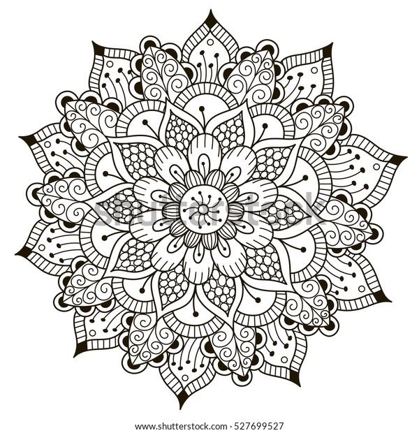 Verwonderlijk Mooie Deco Bloemen mandala. Vector rond stockvector (rechtenvrij JR-63