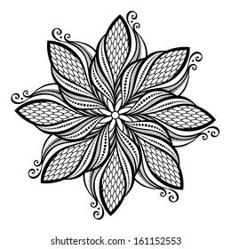 Beautiful Deco Mandala (Vector), Patterned design