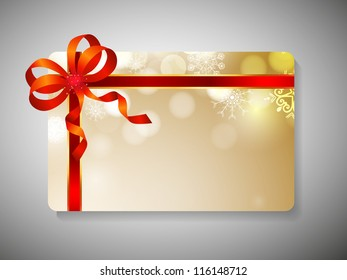 Beautiful decorated gift cards for Merry Christmas celebration. EPS 10.