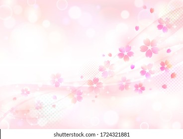 Beautiful delicate cherry blossom background