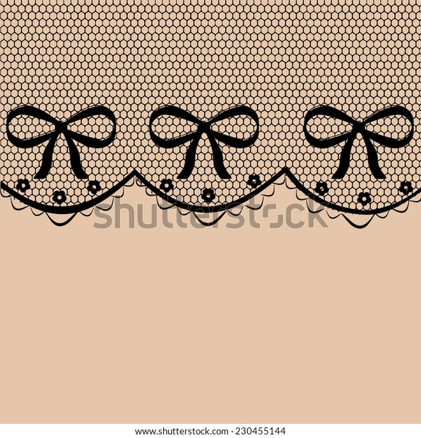 Beautiful delicate lace pattern vector
