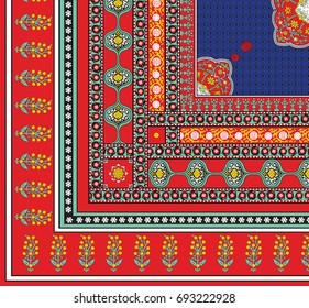 Beautiful Detailed Yemen Embroidery Woman Headscarf