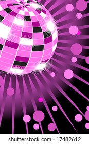 Beautiful disco background