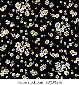 Beautiful ditsy floral seamless background