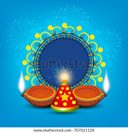 Beautiful diwali greeting card design line stock vector royalty a beautiful diwali greeting card design with line art decorated illuminated floral diya and fire cracker m4hsunfo