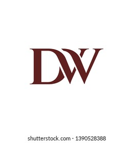 Beautiful DW logo design inspiration.letter D WD icon