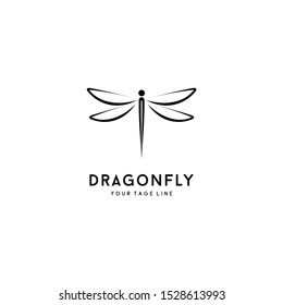 Beautiful Elegant Dragonfly logo Design