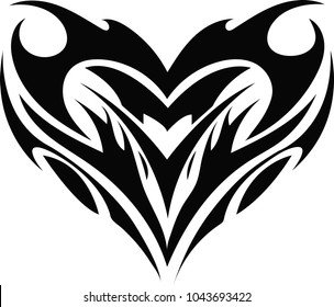 Beautiful and elegant vector illustration of tattoo design. Tatto trible vector design.