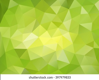Beautiful emerald green lime abstract mosaic polygonal background