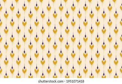 Beautiful Ethnic abstract ikat art. Seamless Kasuri pattern in tribal,folk embroidery,and Mexican style.Aztec geometric art ornament print.Design for carpet,wallpaper, clothing,wrapping,fabric,cover