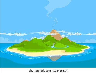 Beautiful exotic island
