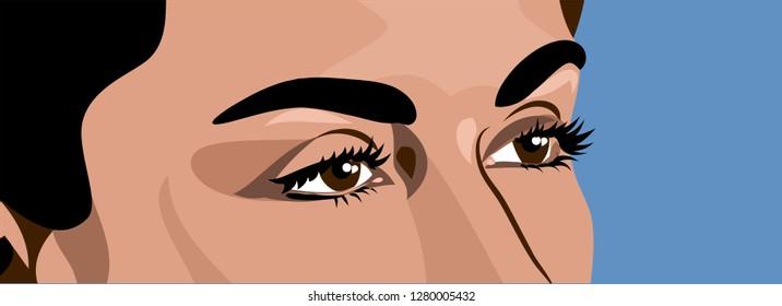 beautiful, expressive  eyes women