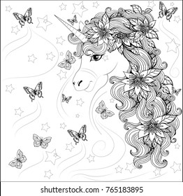 Coloring Book Unicorn Images Stock Photos Amp Vectors