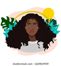 Curly Hair Cartoon Images Stock Photos Vectors Shutterstock