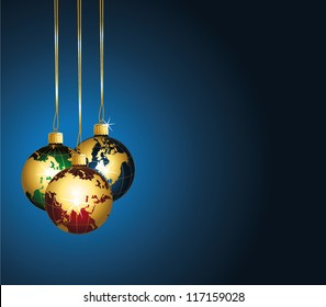 Beautiful festive background with colorful world ornaments. Vector wallpaper.